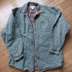 Carhartt Mens canvas shirt flannel lined